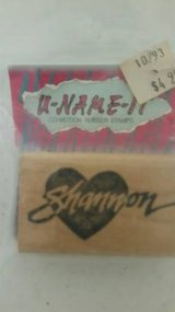 Shannon brand new name rubber stamp in Temecula, California