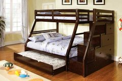 ***LOOK**Micah's Twin/Full Bunk Bed w Staircase Storage and Trundle*** in San Clemente, California