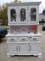 Solid Wood Buffet/China Hutch Cabinet KINCAID in Naperville, Illinois