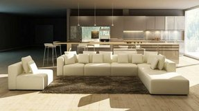 *****Snow White Leather Ultra Modern Sectional***** in San Clemente, California