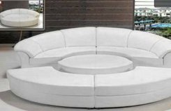 ***Luna's White Circular Sectional 5-Piece Sofa Collection****** in San Clemente, California