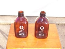 Antique Bordens Glass Milk Bottles in Ottumwa, Iowa