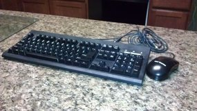 Keytronic Clicky Keyboard Model E06101NPB-C Black with mouse in Yorkville, Illinois