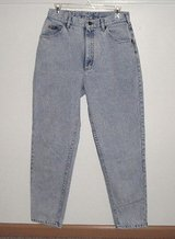 Lee Vintage 80's high waist acid wash jeans womens sz 12 med union made in Yorkville, Illinois