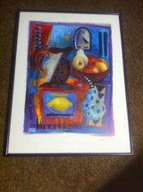 Fruits and jug framed print in Bolingbrook, Illinois