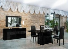 """Harmony"" Modern Black Extendable Dining Set in San Clemente, California"