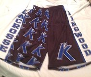 kingwood lacrosse shorts men's med lax lacrossewear black blue in Houston, Texas