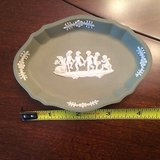 wedgwood small cupids tray in green cream color on celadon jasperware in Montezuma, Georgia