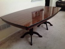 "7ft 3"" Dark Cherry Laquer Finish Table in Joliet, Illinois"