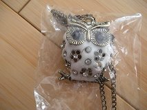 lady's owl crystal bronze retro long chain pendant necklace jewelry in Naperville, Illinois