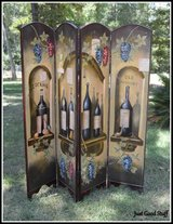 WOOD DIVIDER WITH A WINE IMAGE in The Woodlands, Texas