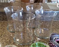 Vases - Clear Glass (3) in Westmont, Illinois
