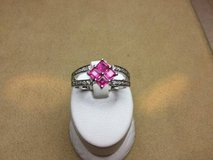 18kt white gold custom ruby and diamond ring in Camp Pendleton, California