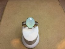 Vintage yellow gold and blue topaz diamond ring in Camp Pendleton, California