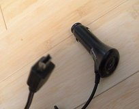 oem motorola premium black micro usb vehicle auto car charger in Lockport, Illinois