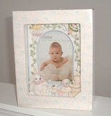 "New C R Gibson Lullaby Baby Boys Photo Frame 5"" x 7"" or 4"" x 6"" Size Photographs Nursery Decor in Morris, Illinois"