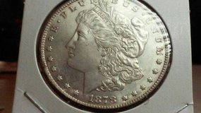 First year issue 1878-s proof like uncleaned morgan silver dollar coin in Oceanside, California