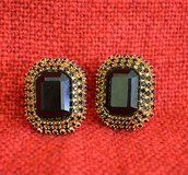 vintage  gold tone clip on earrings in Naperville, Illinois