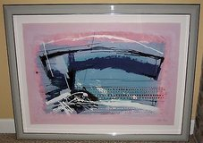 ART - Framed Argentina Israeli Artist Calman Shemi Abstract Lithograph - Signed - Untitled - L.E. in Naperville, Illinois
