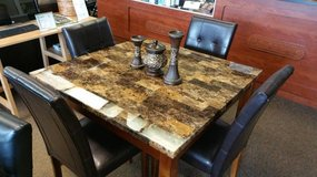 NEW BROWN MARBLE DINING TABLE-COUNTER OR LOW in Schofield Barracks, Hawaii