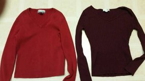 2 V-Neck stretchy sweaters in Temecula, California