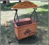 ADORABLE WOOD FLOWER CART in The Woodlands, Texas