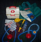 fisher price medical doctor vintage nurse pretend bag case w/tools etc. in Alamogordo, New Mexico
