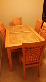 Unique Glass Top Dining Table, 6 Chairs in Pensacola, Florida