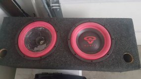 "Two 10"" speakers in a box in Fort Lewis, Washington"