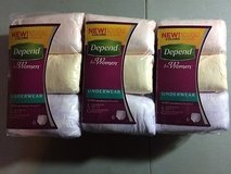 NEW depend moderate absorbency l underwear for women large 18 ct new in Houston, Texas