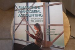 Financial & Managerial accounting College textbook in 29 Palms, California