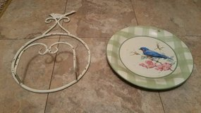 Decorative plate and holder $7 OBO in Minneapolis, Minnesota
