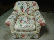 FLORAL PRINT UPHOLSTERED CHAIR TOO GOOD TO GO TO CURB - MUST SELL in Naperville, Illinois