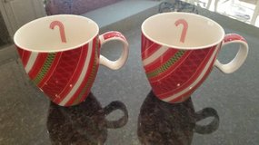 STARBUCKS Holiday Mug Cup 2005 RED GREEN RIBBON Christmas 12 oz NEW in Westmont, Illinois