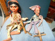 2 Stringed Puppets Marionettes- Man and Woman! in Houston, Texas