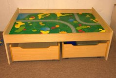 Train Table with 2 wheel drawers in Schaumburg, Illinois