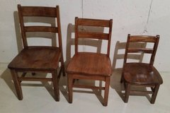 Chair - Wood School Chairs - extremely sturdy - excellent condition in Aurora, Illinois