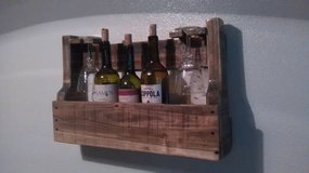 His/Her Wine Rack with glass holders in San Antonio, Texas