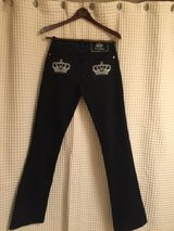 victoria beckham jeans for rock and republic black size 28 in Joliet, Illinois