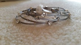 Bracelets - Silver and Crystal (Set of 5) - New in Westmont, Illinois