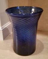 Vase - Cobalt Blue Swirl Hand Blown - Large - Antique in Wheaton, Illinois