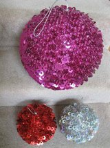 Sequin Hanging Balls (3) - from Pier 1 Imports in Bolingbrook, Illinois