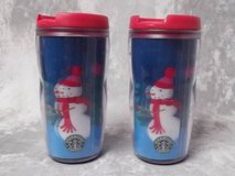 Starbucks SNOWMAN 2004 Travel Mug Tumbler 8 oz Holiday Child Christmas in Chicago, Illinois