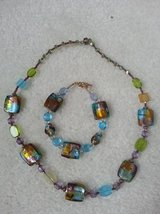 Necklace and Bracelet - Beautiful glass beads in excellent condition in Naperville, Illinois
