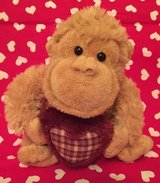 Valentine's Day monkey with heart  - stuffed animal in Chicago, Illinois