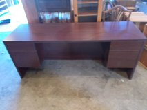 Desk-large Office Desk-Almost new-FREE CHAIR in Fort Leonard Wood, Missouri