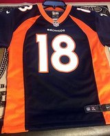 Denver Broncos Peyton Manning #18 Licensed NFL Jersey NIKE ON FIELD YOUTH SIZES LARGE in Huntington Beach, California