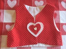 Valentine's Day  hand made girl vest  size 1-3 in Naperville, Illinois