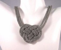 "antiqued silver tone 18"" knot celtic design statement necklace fashion extender in Kingwood, Texas"