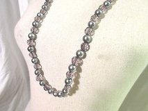 Gray Smoke Color Beads Strand 34' Silver Necklace Fashion  Strand Chain Silver Tone in Kingwood, Texas